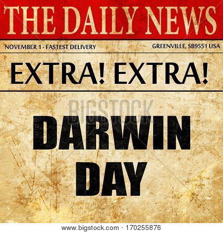 darwin day, newspaper article text