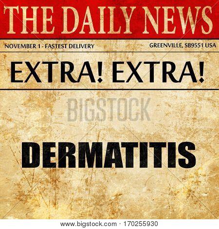 dermatitis, newspaper article text