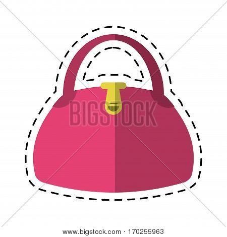 cartoon woman handbag fashion style vector illustration eps 10