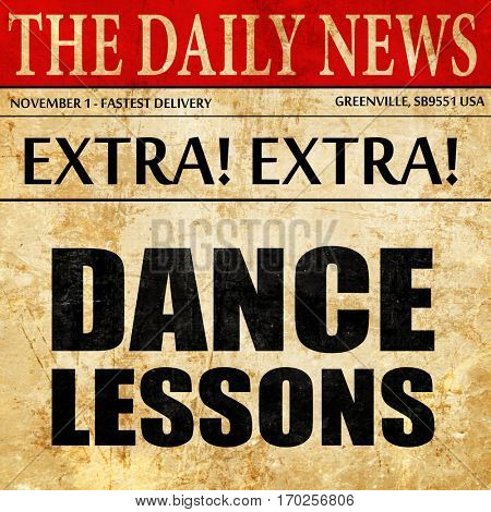 dance lessons, newspaper article text
