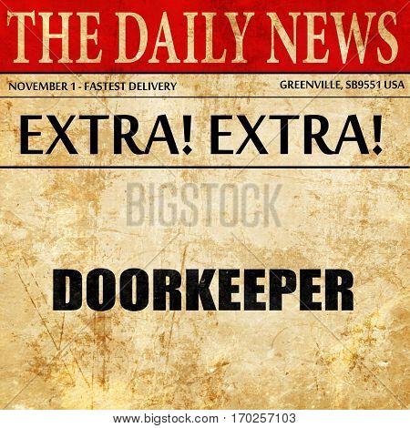 doorkeeper, newspaper article text