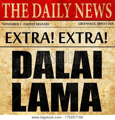 the Dalai lama, newspaper article text