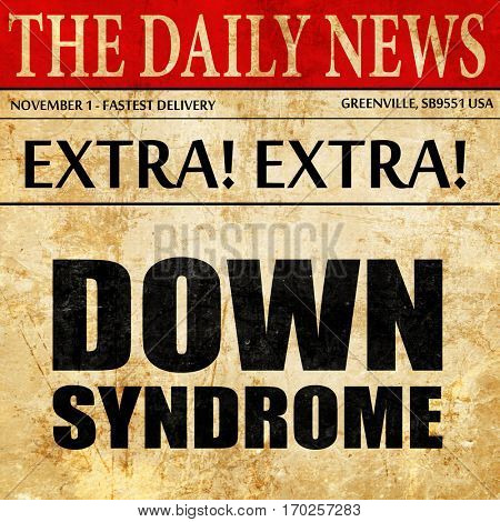 down syndrome, newspaper article text