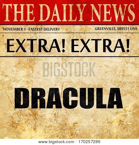 dracula, newspaper article text