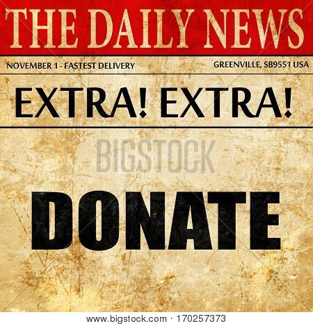 donate, newspaper article text