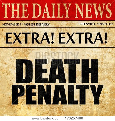 death penalty, newspaper article text