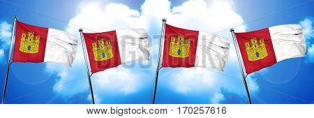 Castilla la manche flag, 3D rendering