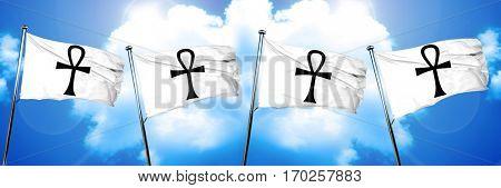 ankh symbol flag, 3D rendering