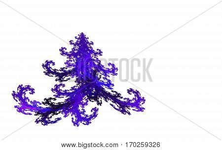 colorful fractal Christmas tree on white background