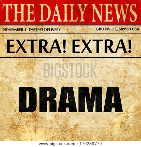 drama, newspaper article text