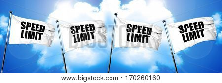 speed limit flag, 3D rendering