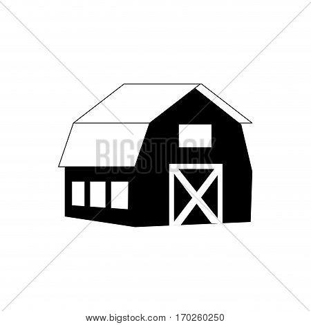 stable building farm icon vector illustration design