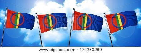 Sami people flag, 3D rendering