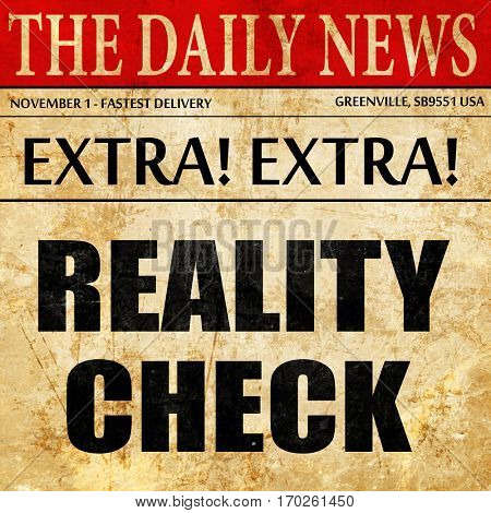 reality check, newspaper article text