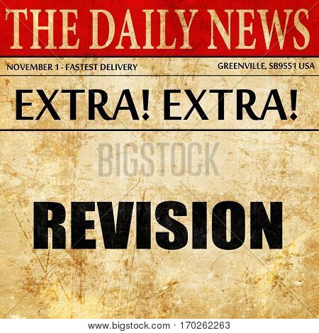 revision, newspaper article text