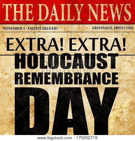 holocaust remembrance day, newspaper article text