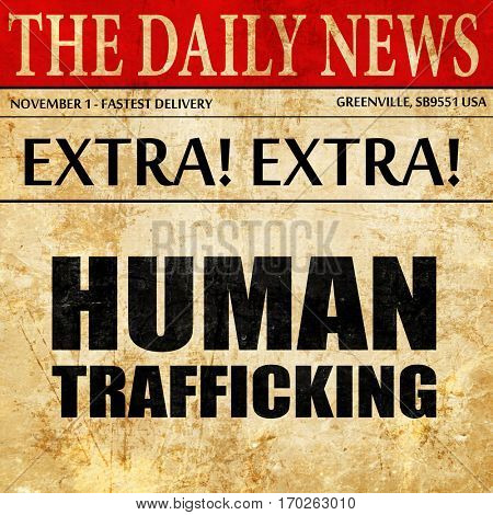 human trafficking, newspaper article text