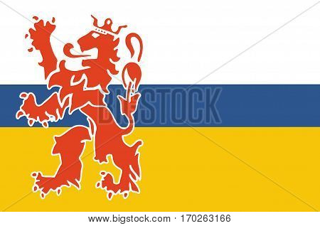 Flag of Limburg is the southernmost of the 12 provinces of the Netherlands