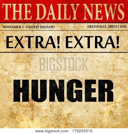 hunger, newspaper article text
