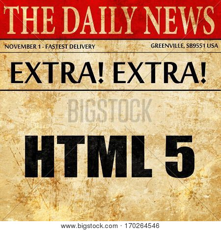 html 5, newspaper article text