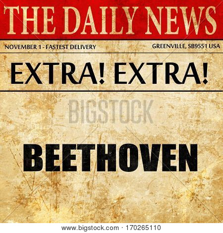 beethoven, newspaper article text