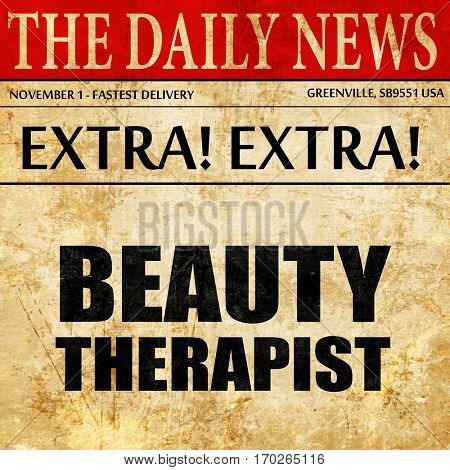 beauty therapist, newspaper article text