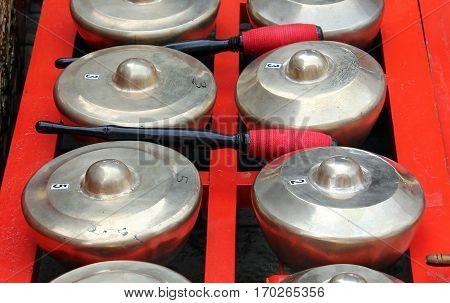 Bonang - Traditional Musical Instrument Of Javanese Gamelan