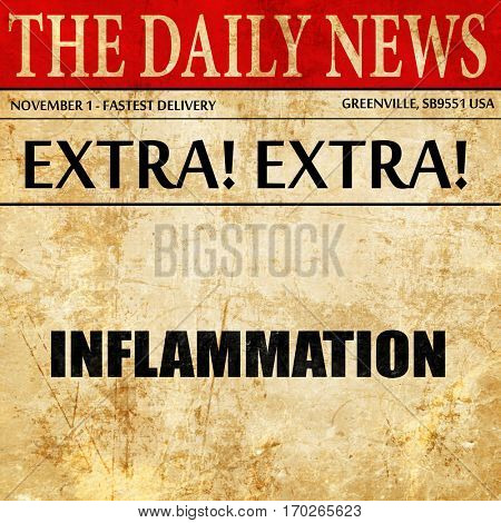 inflammation, newspaper article text
