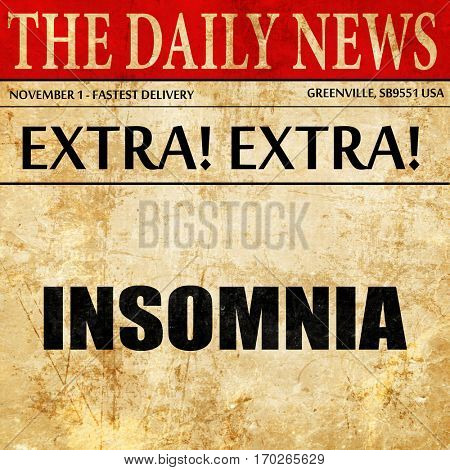 insomnia, newspaper article text