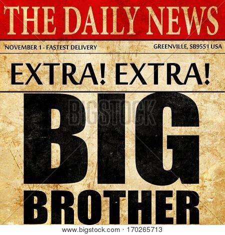 big brother, newspaper article text