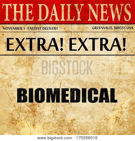 biomedical, newspaper article text