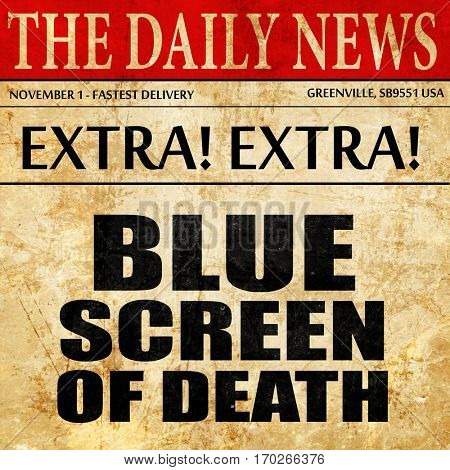 blue screen of death, newspaper article text