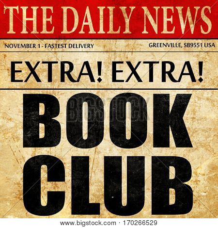 book club, newspaper article text