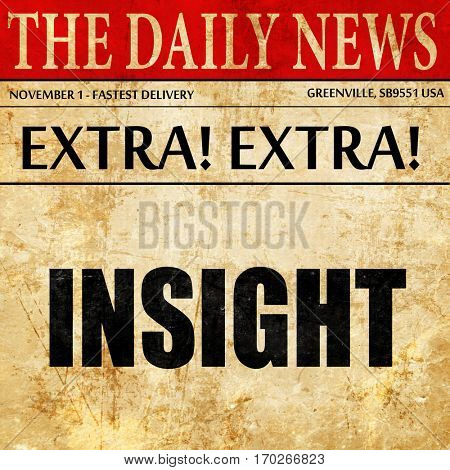 insight, newspaper article text