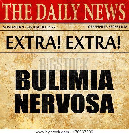 bulimia nervosa, newspaper article text
