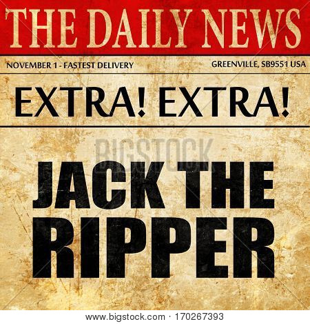 jack the ripper, newspaper article text