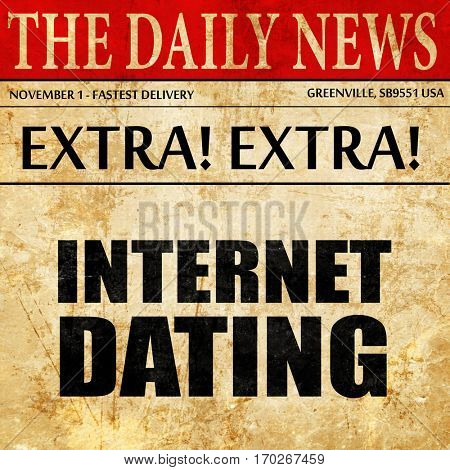 internet dating, newspaper article text