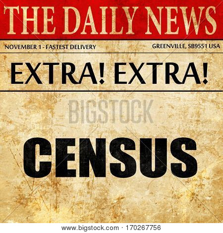 census, newspaper article text