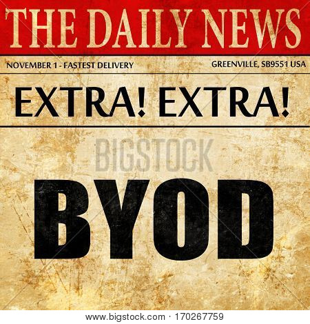 byod, newspaper article text
