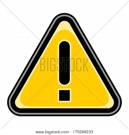 Use it in all your designs. Quick and easy recolorable vector illustration. Attention sign triangular shape with exclamation mark Exclamation Point. Warning icon hazard sign in flat style.