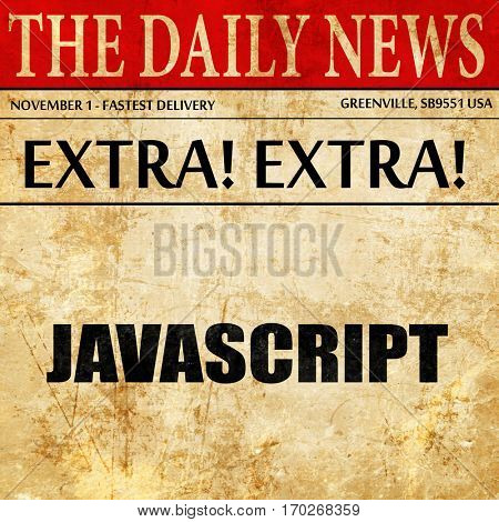 javascript, newspaper article text