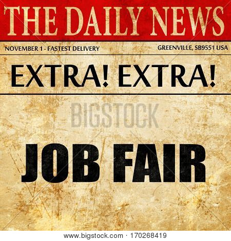 job fair, newspaper article text