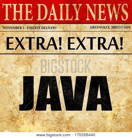 java, newspaper article text