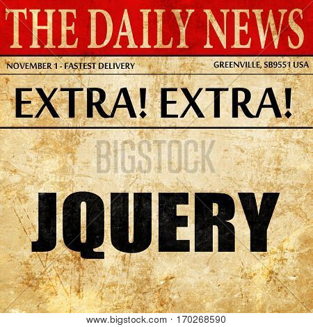 jQuery, newspaper article text