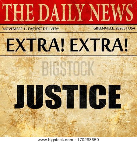 justice, newspaper article text