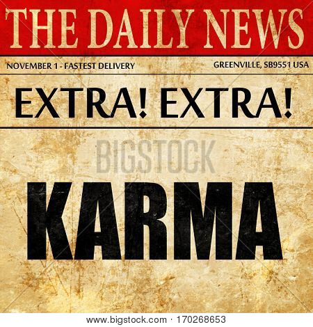 karma, newspaper article text