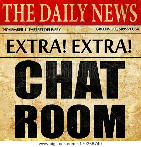 chatroom, newspaper article text