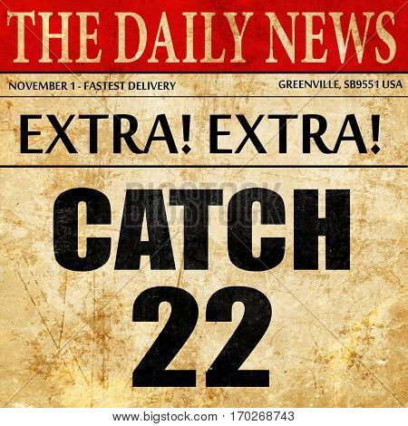 catch, newspaper article text