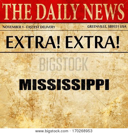 mississippi, newspaper article text