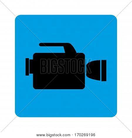 square border with tech videocamera vector illustration
